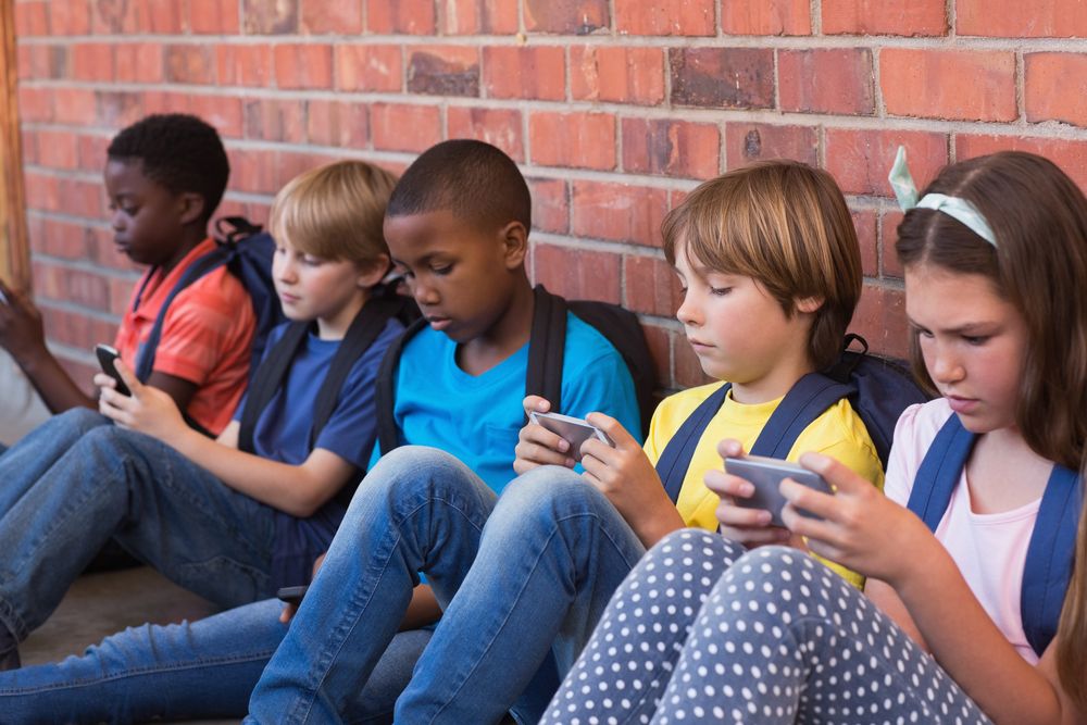 Children on devices